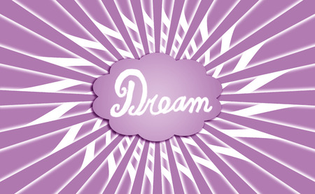 idealized: Violet dream cloud shape with rays