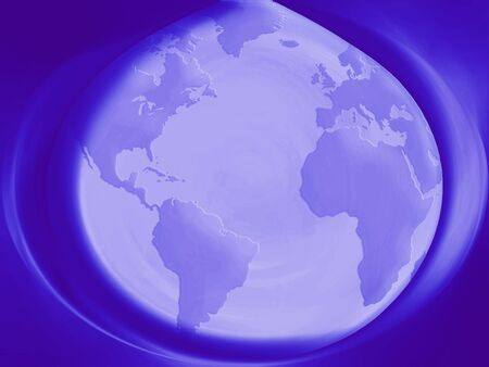 transmutation: Indigo blue planet Earth sphere abstract background
