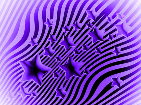 transmutation: Stars on striped background of violet color