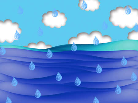 raining: Raining over the sea