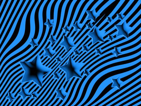 imaginarium: Blue starry striped background Stock Photo