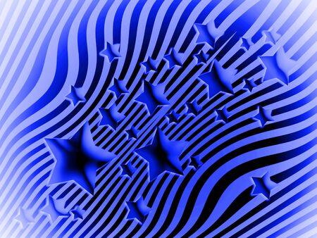 transmutation: Blue stars and stripes background Stock Photo