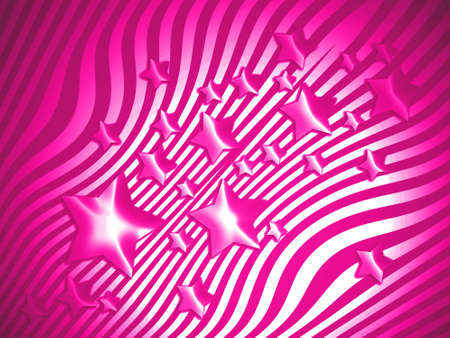 imaginarium: Brilliant magenta starry striped abstract background
