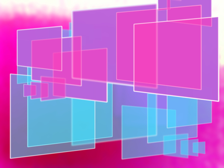 overlapped: Pink and blue rectangles abstract background
