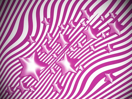 transmutation: Purple stars and stripes background Stock Photo