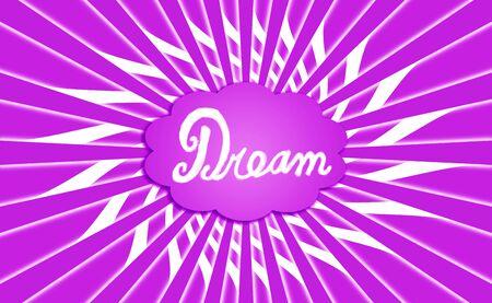 idealized: Purple dream cloud rays