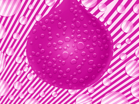 sweaty: Party balloon of pink color on funky background
