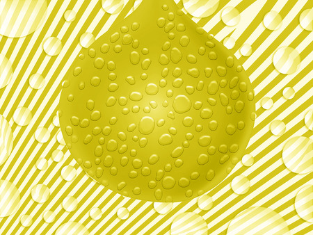 imaginarium: Yellow funky drop striped background Stock Photo