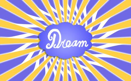idealized: Dream cloud with rays