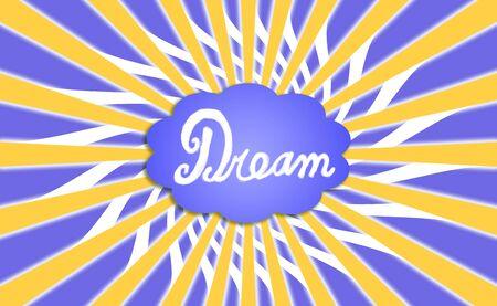 simetric: Dream cloud with rays