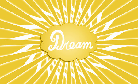 idealized: Dream cloud yellow radial background