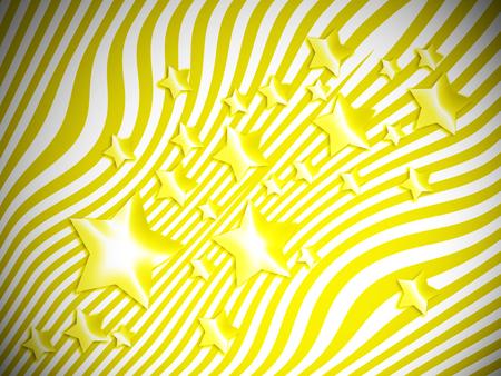wet flies: Yellow stars on striped background
