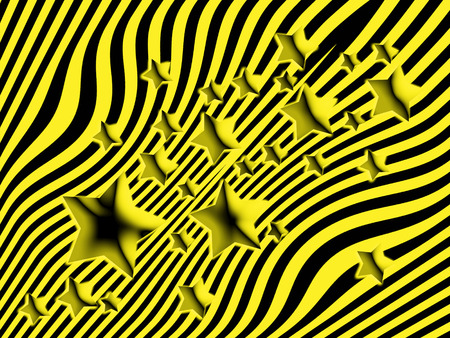 cleansing: Black and yellow stars and lines background