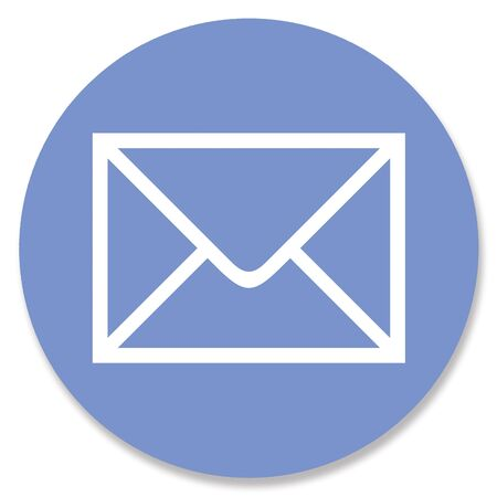 email envelope: Email envelope shape in blue circle