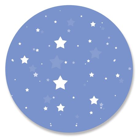 starry night: Starry blue night circle background