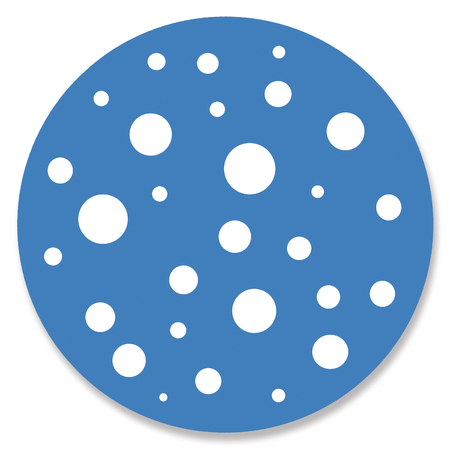 button mushroom: Spotted blue circle Stock Photo