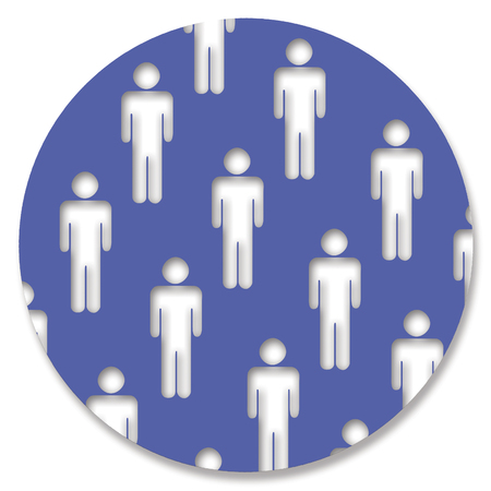 genders: Male silhouettes in blue circle