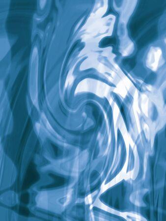 Blauwe bezinningen over waterspiegel abstracte achtergrond Stockfoto