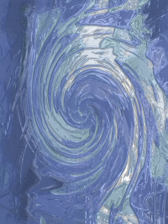 sober: Sober blue spiral abstract background Stock Photo