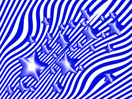 transmutation: Blue stars and lines abstract background