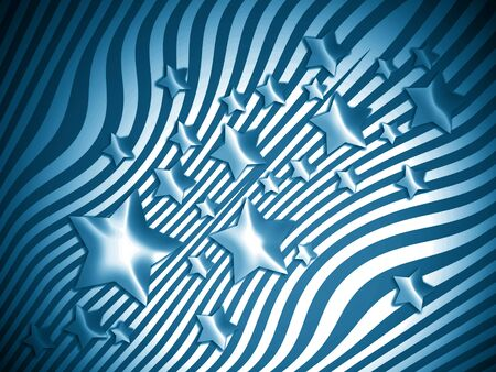transmutation: Blue starry striped background Stock Photo