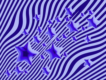 imaginary line: Blue stars and stripes background Stock Photo