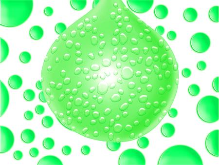 wet flies: Green wet drop spotted background