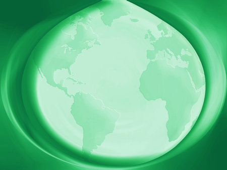 planetary: Green planetary drop abstract background