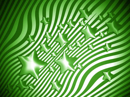 imaginarium: Green stars and lines background Stock Photo