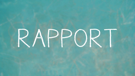 rapport: Rapport caps chalk word