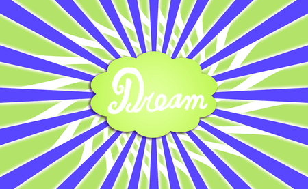 idealized: Green and blue dream cloud rays