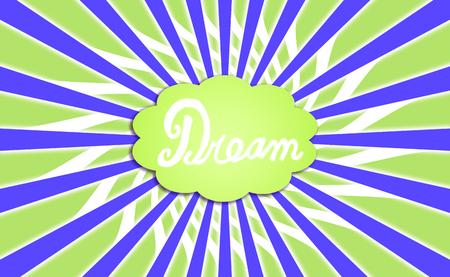 simetric: Green and blue dream cloud rays