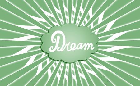 simetric: Green rays of dream cloud background