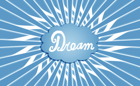 idealized: Blue rays dream cloud background