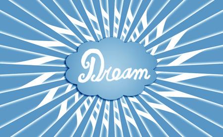 simetric: Blue rays dream cloud background