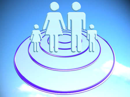abducted: Family marketing target conceptual stock image Stock Photo