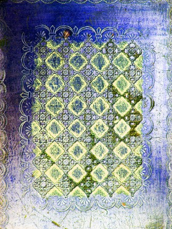 blue green background: Green and blue colors vintage wood design background