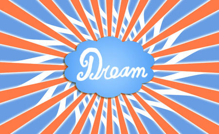 contrasting: Dream cloud with colors rays background