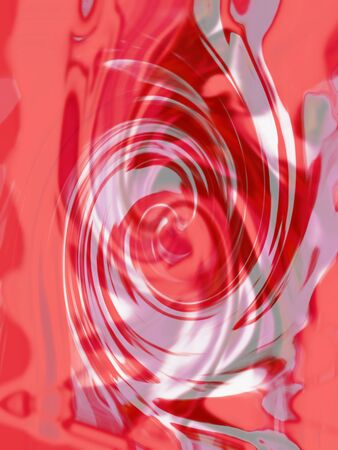 spins: Red spins abstract background of liquid surface