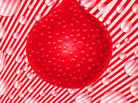 Red wet balloon party fantasy abstract background Stock Photo