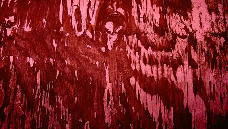 redish: Red vintage grunge wood paint abstract background texture close up Stock Photo