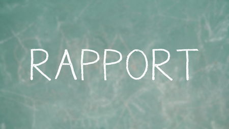 rapport: Rapport chalk word of PNL class Stock Photo