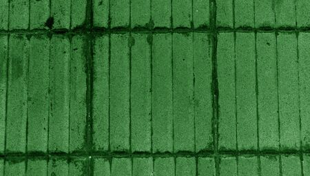 mosaic floor: Green floor mosaic striped abstract background Stock Photo