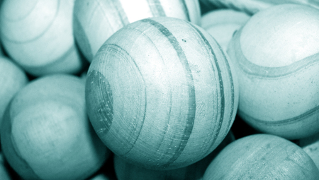 blue sphere: Blue wood balls background with stripes