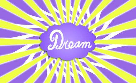 Dream cloud purple and yellow stripes illustration