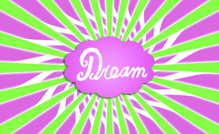 idealized: Dream cloud colorful background Stock Photo