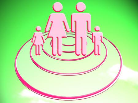 Familiar future projecting circular platform illustration