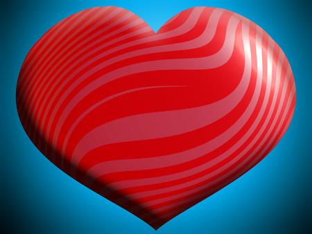 파란색에 빨간색 줄무늬 심장 모양 배경 스톡 콘텐츠