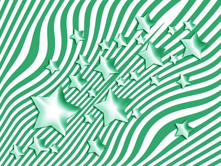 imaginarium: Stars and lines green and white abstract background