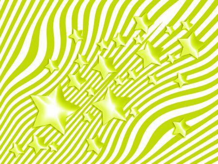 별과 얇은 줄무늬가 밝은 녹색 추상적 인 배경